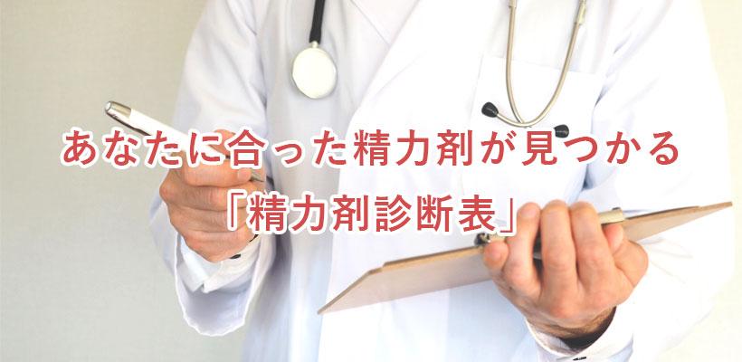 あなたに合った精力剤が見つかる「精力剤診断表」